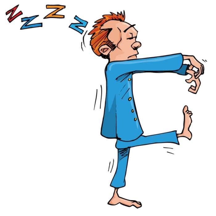 Sleep walking is a parasomnia