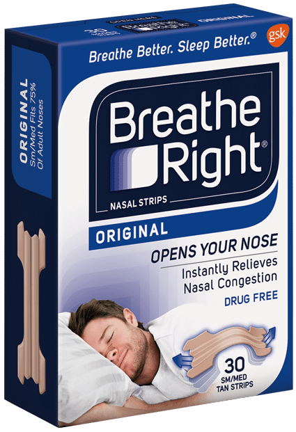nasal strips used to relieve snoring at night