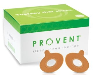 Picture of Provent sleep apnea therapy which may help with cpap spouse complaints