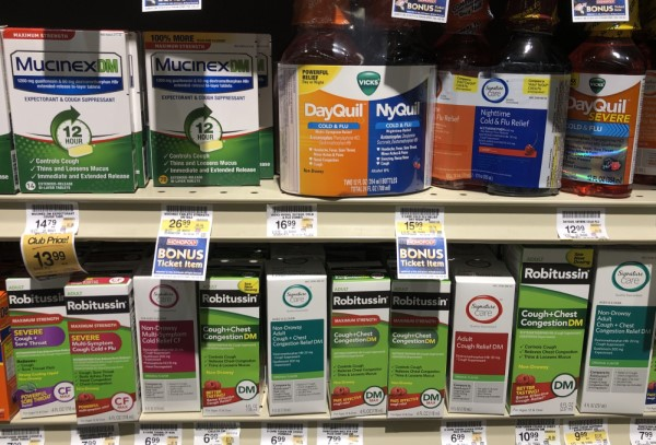 Cold med options I saw at the grocery store after CPAP made my cold worse