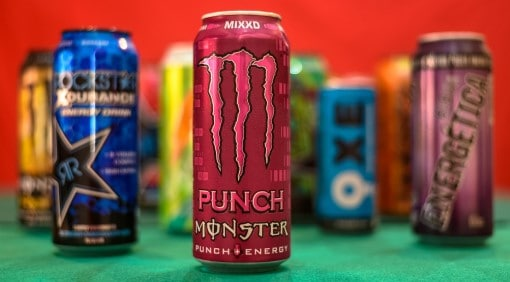 picture of energy drinks which can cause concerns about obstructive sleep apnea and caffeine