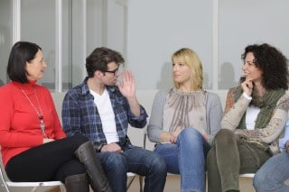 picture of a support group which offers an in-person experience different from a sleep apnea forum