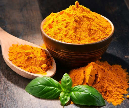 photo of turmeric powder which can be used in supplements for relaxation