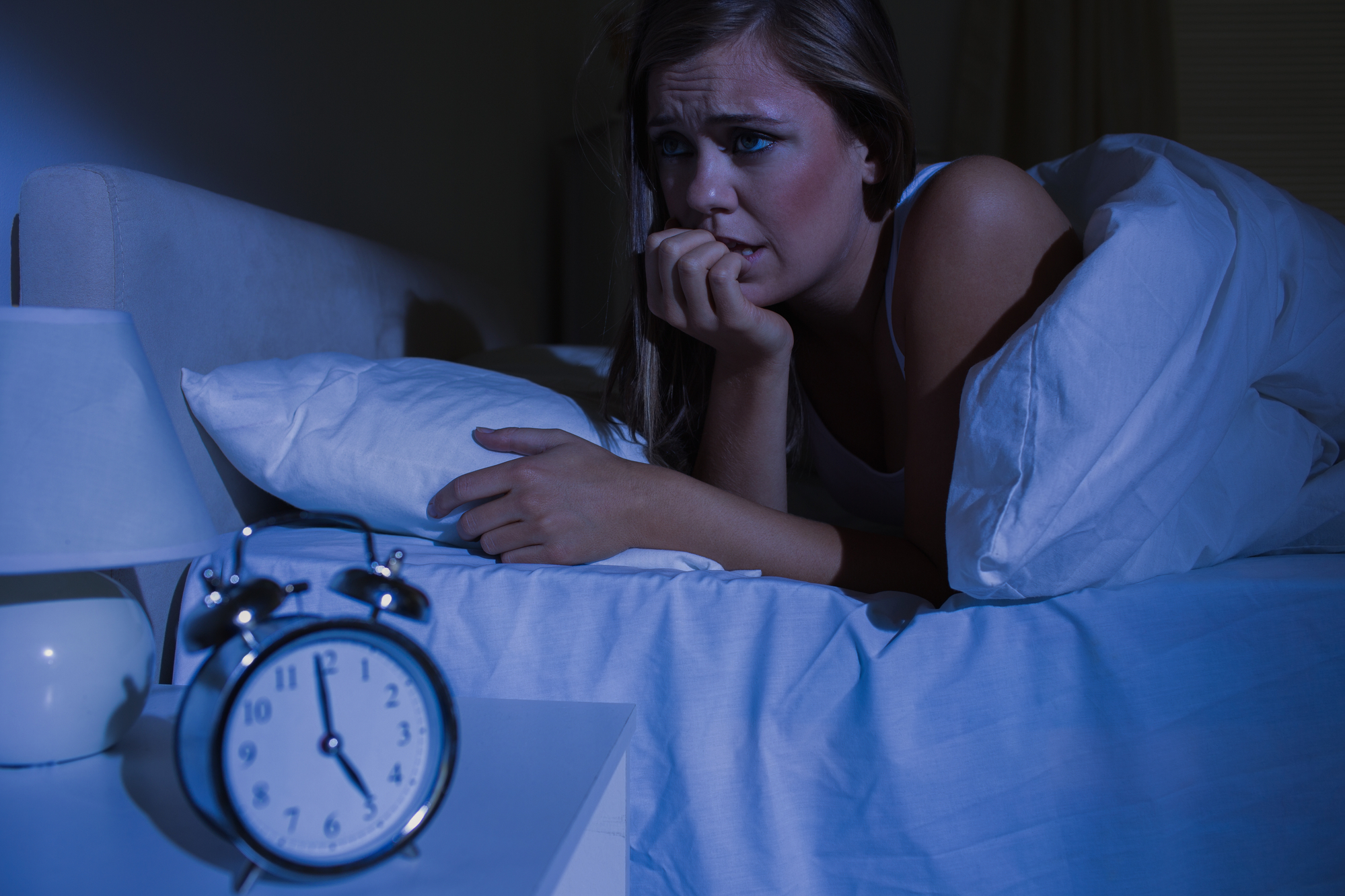 women awake at night thinking about using your spouse's CPAP machine