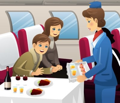 family sitting on air plane worried jet lag may cause depression