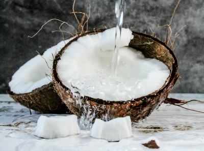 sliced coconuts