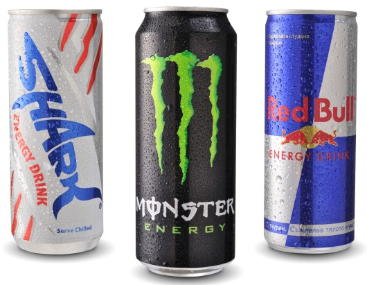 picture of cans of energy drinks