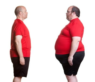 picture of man losing weight which is one of things to try if you want to treat sleep apnea yourself