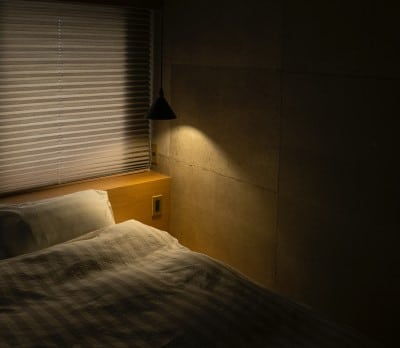 dark and comfortable bedroom which is what you want if CPAP is stressing you out
