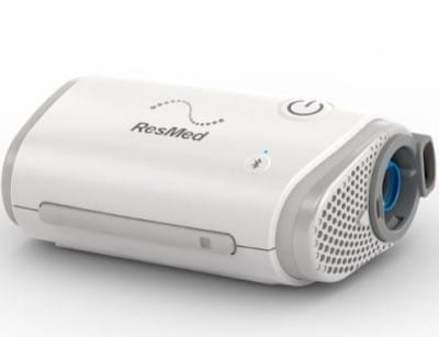 picture of a travel CPAP machine which can be used during a power outage