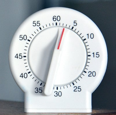 picture of a timer which may help if you can't stop reading before bedtime