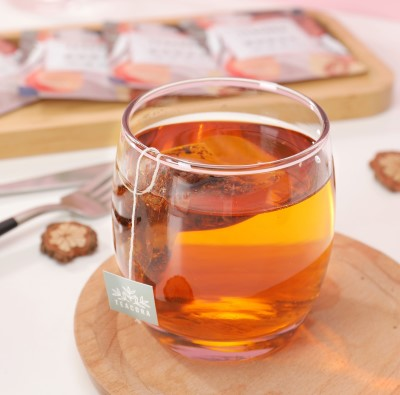 photo of glass filled with Rooibos Tea
