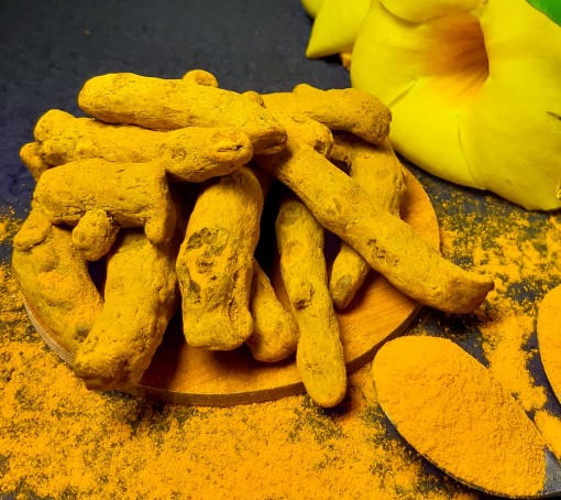 photo of turmeric roots which is the plant part people are interested in as remedy for insomnia