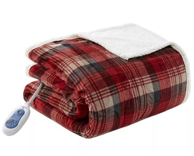 photo of an electric blanket to stay warm when too cold to sleep