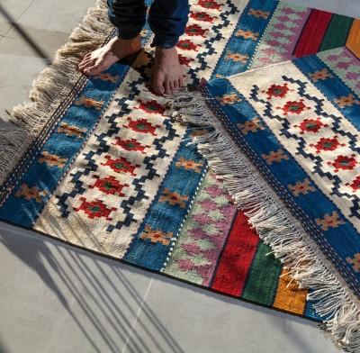 photo of floor rug to help keep a room warm if it's too cold to sleep