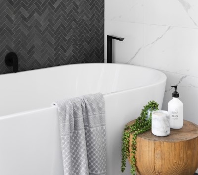 photo of bath tub to be used by someone who's too excited to sleep