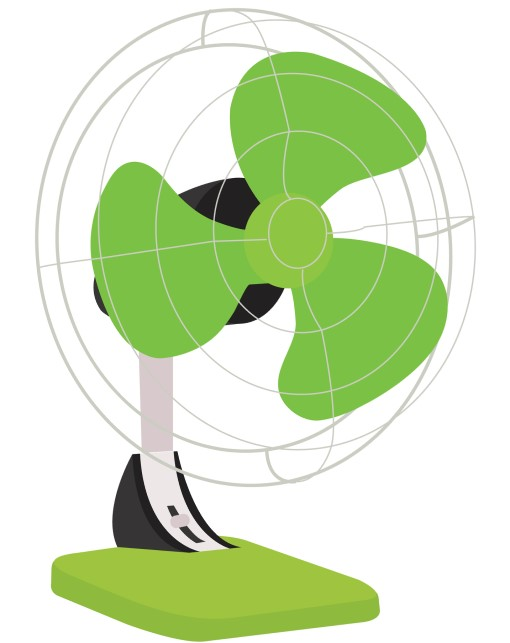 photo of electric fan to be used with ice
