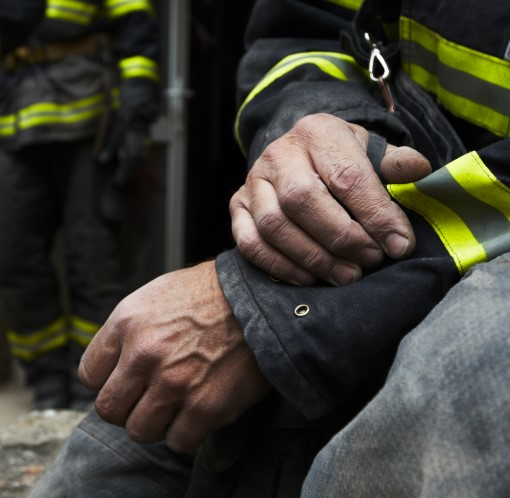 photo of firefighter exhausted because of poor sleep